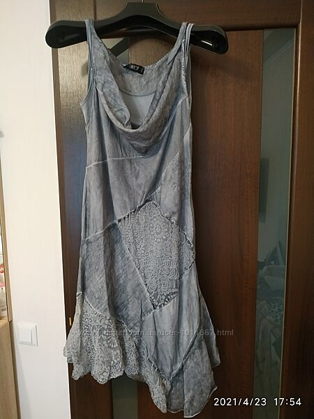 Лёгкое воздушное итальянское платье сарафан на размер 46-48