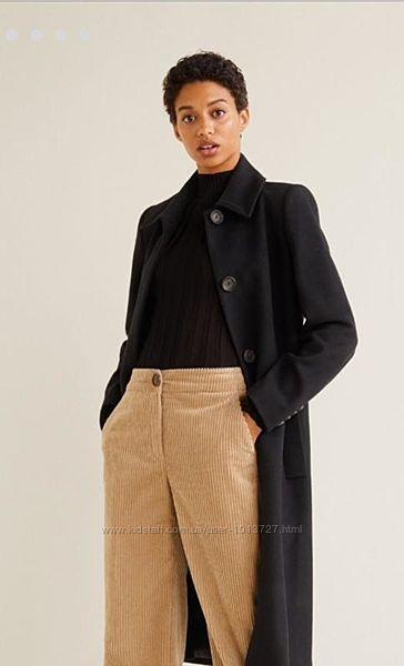 Шикарное шерстяное пальто m mango