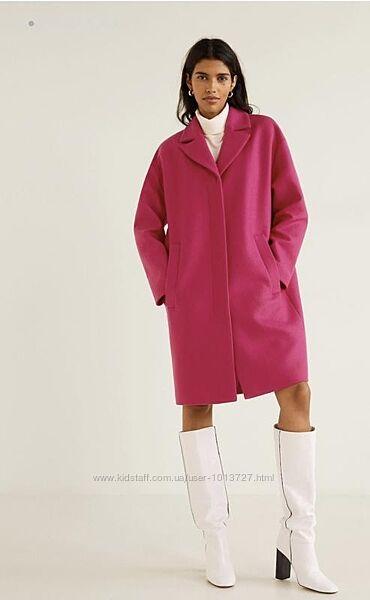 Изумительное пальто шерсть оверсайз mango, р-р s