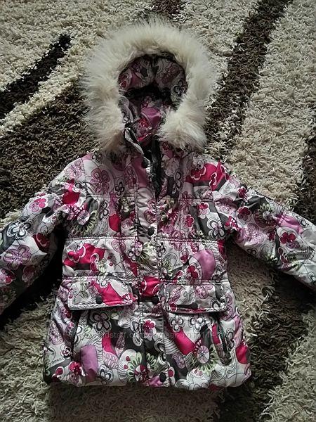 Зимняя фирменная теплая куртка пуховик курточка
