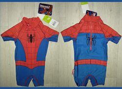 Spider-Man marvel детский солнцезащитный 1-2года человек паук   костюм плав
