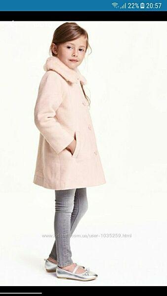 Пальто демисезон HM, утеплене пальто Zara 4-5 р. 104-110