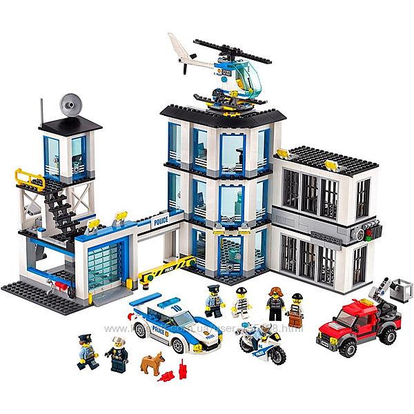 LEGO, оригинал. Полиция, полицейский участок, тюрьма, 60141, лего, city