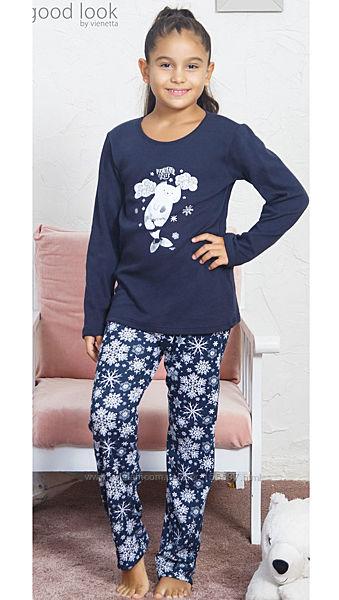 Тёплая пижама для девочки Vienetta Secret на 15-16 лет интерлок