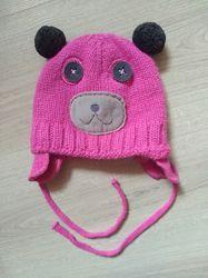Тёплая зимняя шапка фирмы Raster для девочки