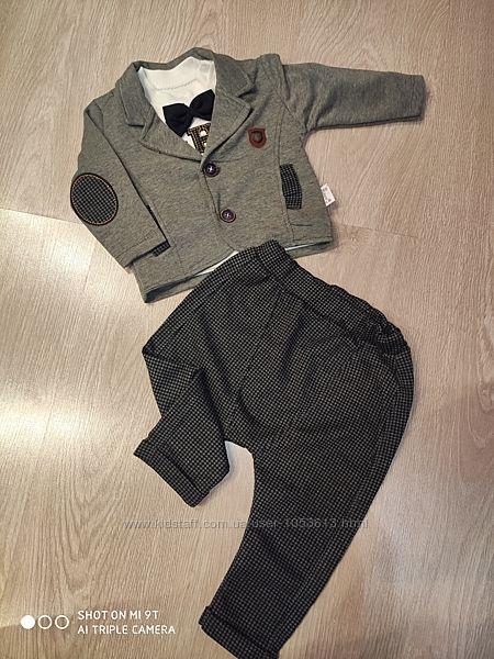 РАСПРОДАЖА Нарядный костюм для мальчика, с пиджаком 3-12 м