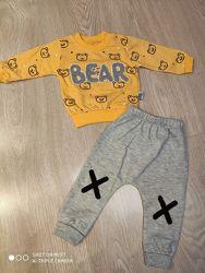 Модный костюм для мальчика, кофта и штаны, 12-18 мес, Турция