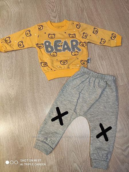 Модный костюм для мальчика, кофта и штаны, 9-18 мес, Турция