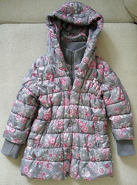 Классная теплая куртка kanz для девочки, р.116