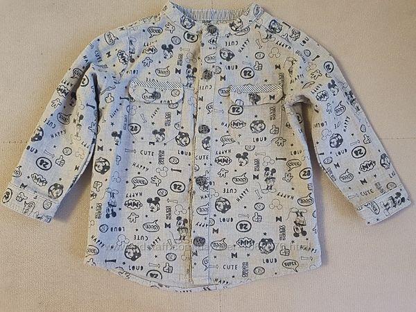 Рубашка с микки маусом
