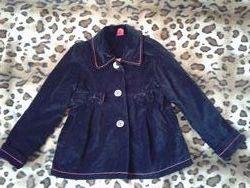 Pumpkin patch новое велюровое пальто пиджак жакет черный девочке 8-9 лет