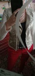 Tcm tchibo новая куртка пиджак косуха ветровка с пайетками м-л-хл