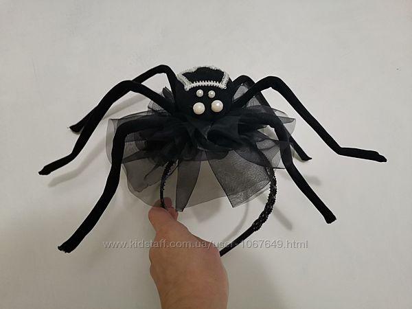 Обруч на голову паучок к костюму паука, ведьмочки