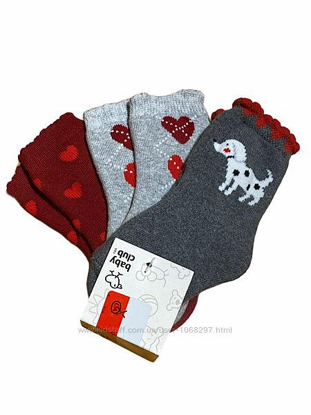 Комплект 3 папы. детские тёплые махровые хлопковые носочки c&a, 18-20