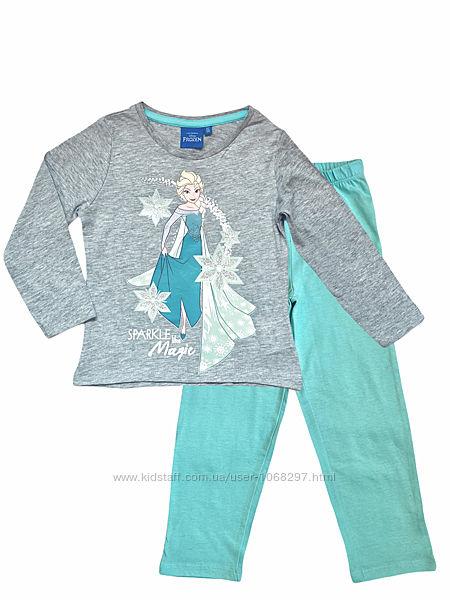 Детская хлопковая трикотажная пижама disney frozen, 2-3 года.