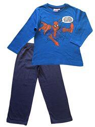 Детская хлопковая трикотажная пижама spider-man, 2-3 года.