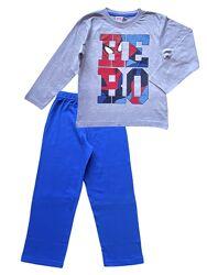 Детская хлопковая трикотажная пижама spider-man, 4-5 лет.