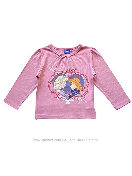 Футболка, кофточка хлопковая лонгслив на девочку, frozen, 2-3, 6-7 лет