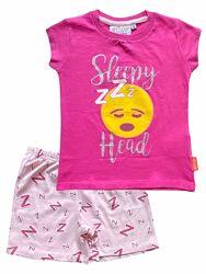 Хлопковая трикотажная пижама футболка и шорты emoji, 2-3, 4-5 лет.