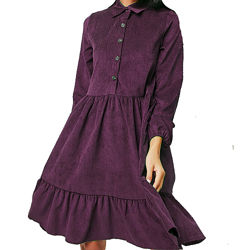 Платье из микровельвета, свободного кроя, арт. pv-4392, с 40 по 54 р.