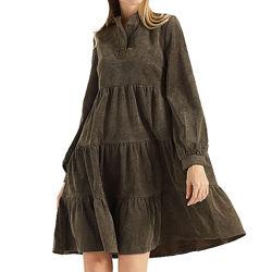 Платье свободного кроя из микровельвета, арт. pv-4397, с 40 по 52 р.