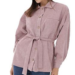 Удлиненная рубашка под пояс из микровельвета, арт. rv-452, с 40 по 56 р.