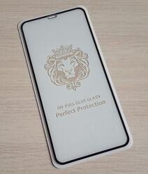 Защитное 5D стекло iPhone XS MAX, iPhone 11 Pro Max 6.5 черное, белое