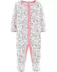 Хлопковый человечек, пижама, слип для девочки 3M рост 55-61 см Картерс