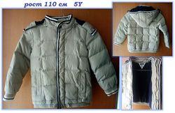 Детская куртка Chicco рост 110 см, 5 лет, зима для мальчика идеал. сост.