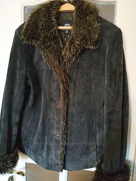 Куртка из натуральной кожи замша
