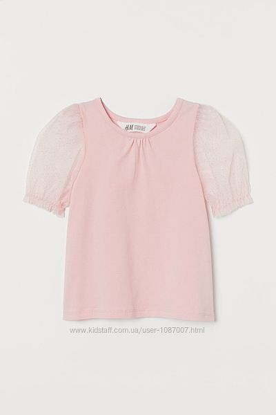 Нова рожева футболка H&M розм. 6-8 р. /128 і 8-10 р. /140