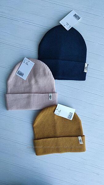 В наявності Нові стильні шапки в рубчик H&M розм. 1-2 р. і 2-4 р.