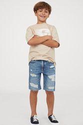 Джинсовые шорты H&M, 10-16лет, черный и синий