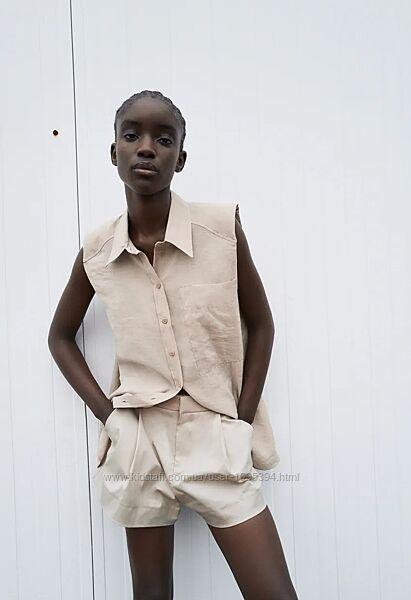 Рубашка с подплечниками Зара