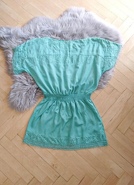 Бирюзовое платье-туника accessorize, размер s