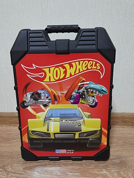 Hot Wheels 48- Car storage Case with easy grip carrying case, Кейс, чемодан
