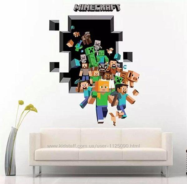 Виниловая наклейка Майнкрафт 70х50 см