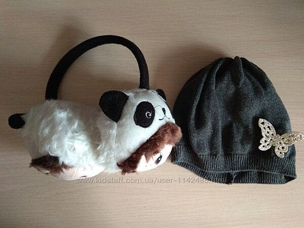 Демисезонная шапка НМ, H&M и наушники