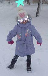 Kiko. наша курточка. пуховик. пальто с сумкой. р.104-110