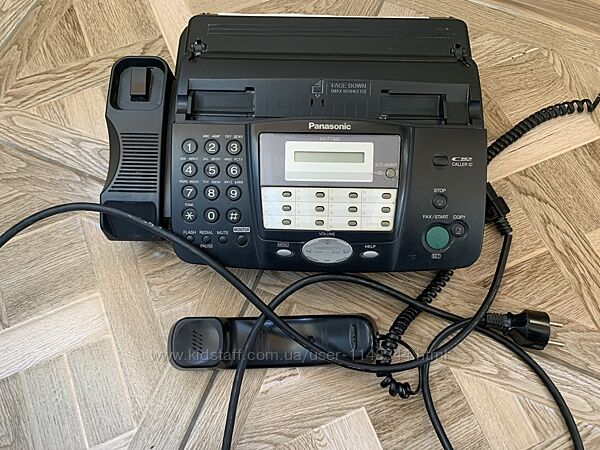 Телефон факс Panasonic KX FT902UA в рабочем состоянии