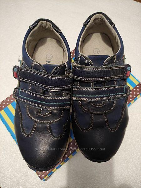 Кроссовки-спортивные туфли, нат. кожа, р. 28-29 стелька 19 см