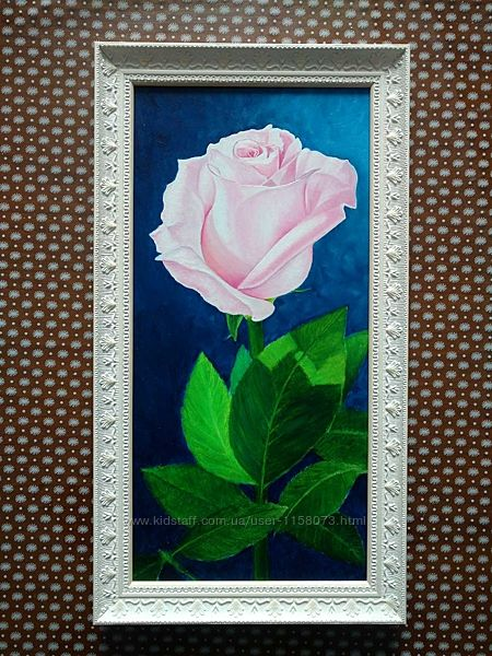 Картина Роза, ДВП, грунт, масло, размер 19,540.