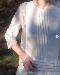 Легкое летнее платье-туника S-M в ретро стиле