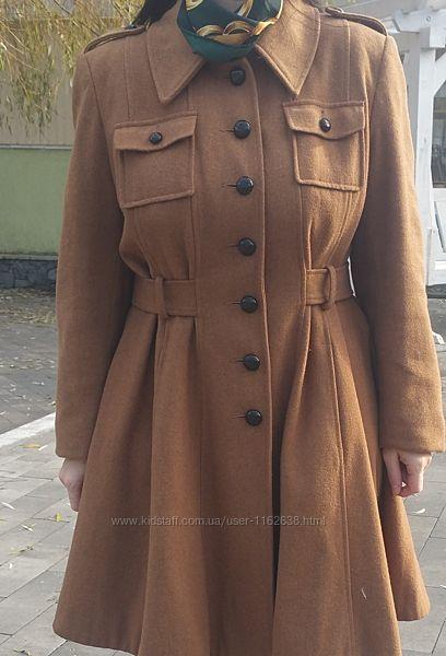 Пальто new look  в милитари Uk18 eu 48 и больше