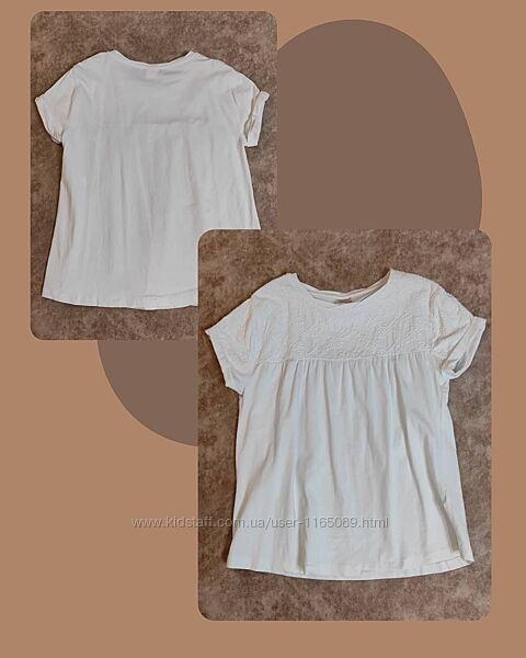 Белая футболка Zara р.164