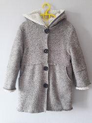 Пальто деми для девочки шерстяное