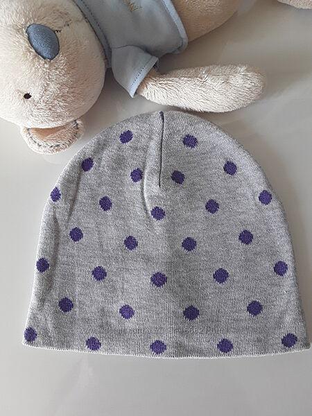 Демисезонная шапка H&M для девочки 4-8 лет хлопок