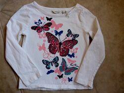 футболки и регланы девочкам на рост 104 -170см