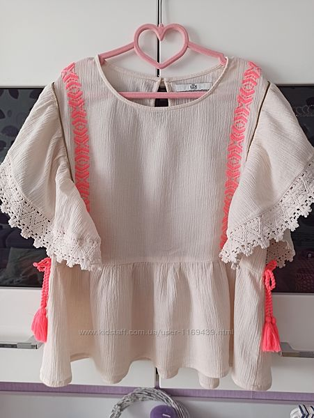 Туника блуза Marks&Spencer для девочки 9-10 лет рост 134-140 см