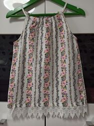 Топ майка I Love Girlswear для девочки 10 лет рост 140 см
